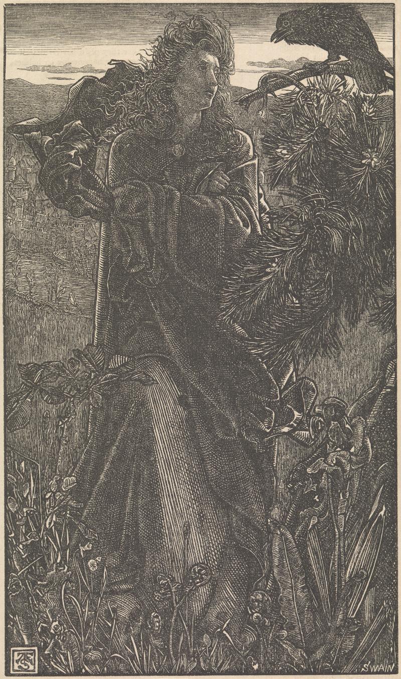 Bilde av valkyrie som snakker med ravn