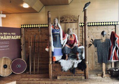 Harald Hårfagre og Gyda i Nordvegen Historiesenter
