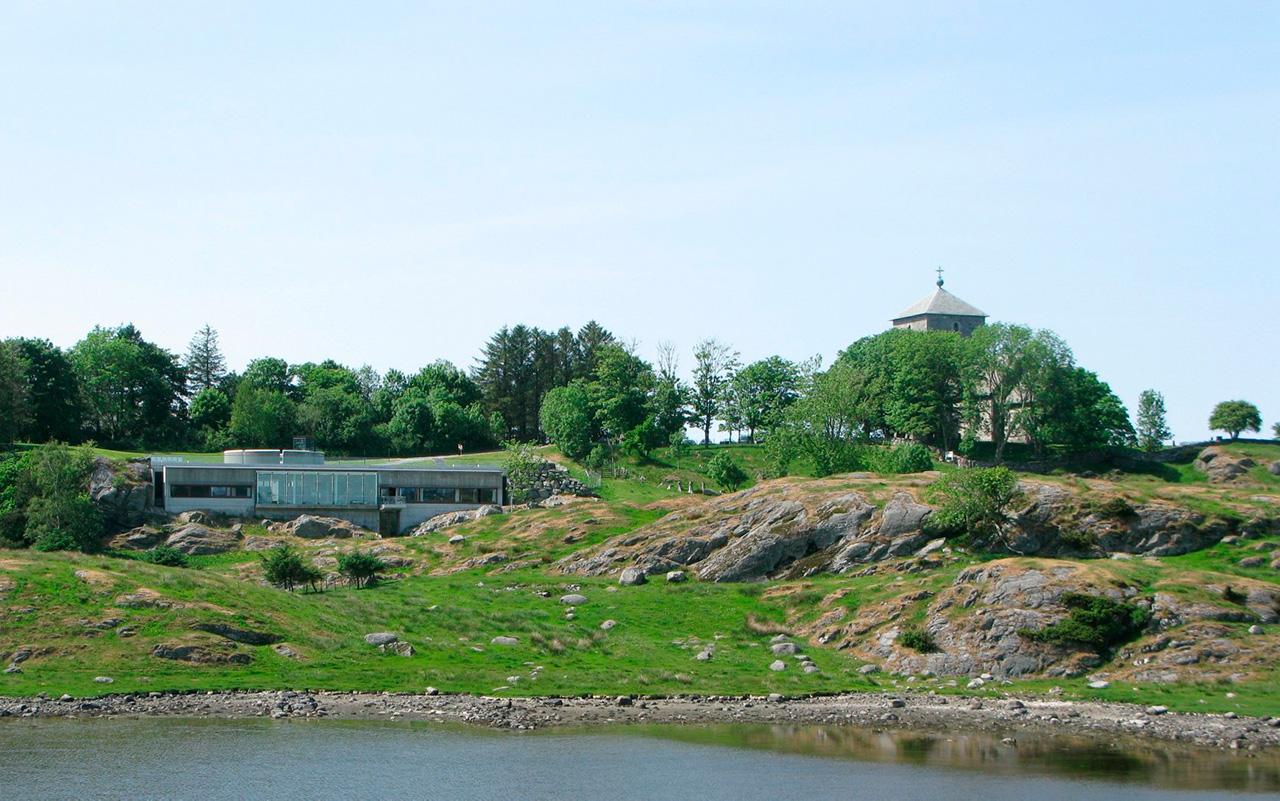 Nordvegen historiesenter sett fra Karmsundet