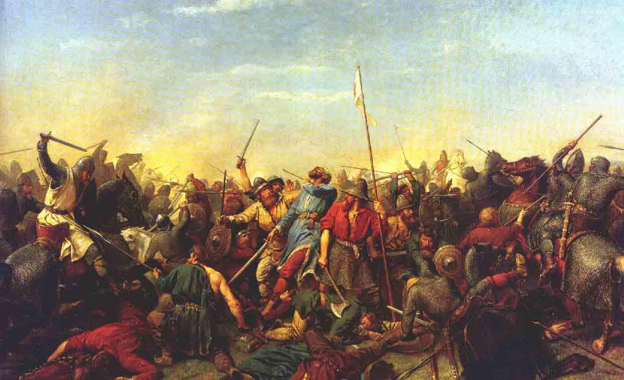 Maleri av Slaget ved Stamford av Peter N. Arbo